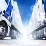 Two big trucks — Stock Photo