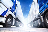 Two big trucks — Stock Photo