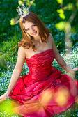 Princesa vestido rojo — Foto de Stock