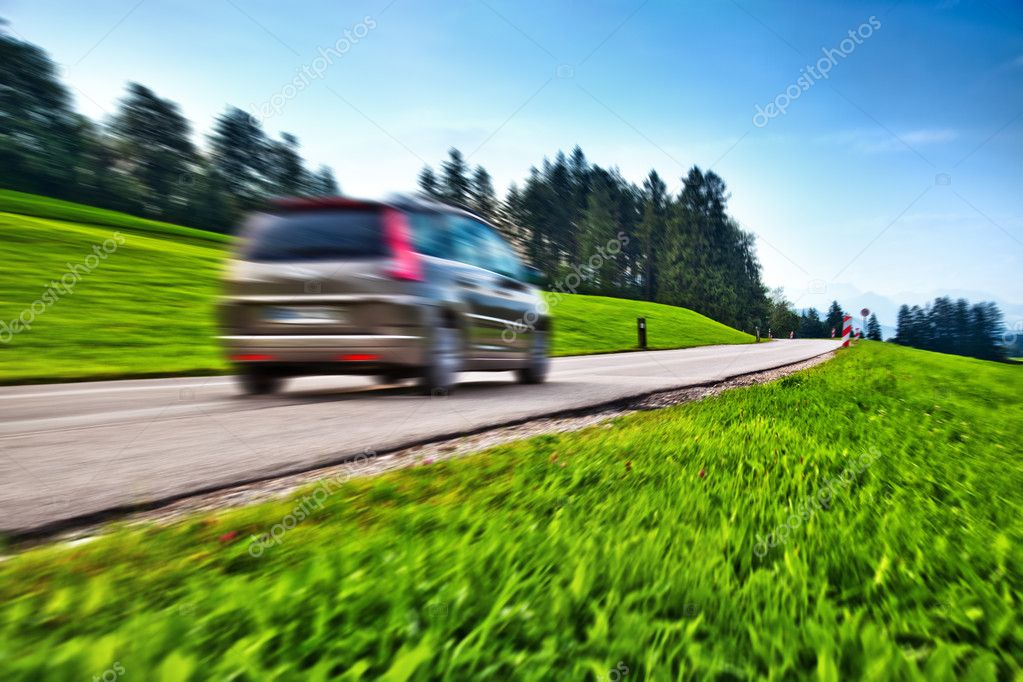 Car travel. Blur motion effect.  Stok fotoraf #3728181