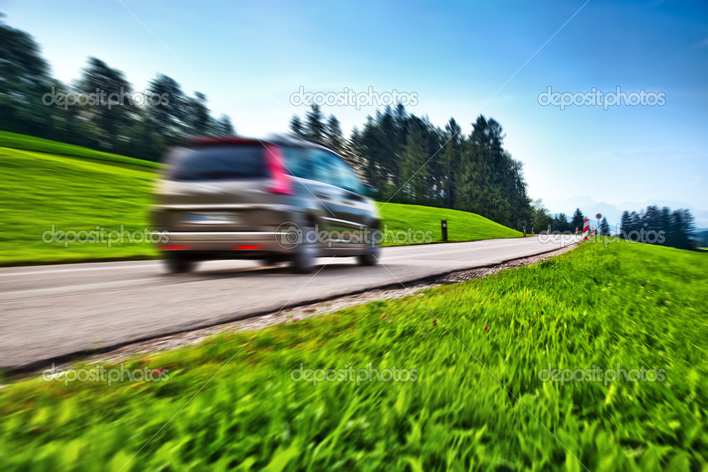 Car travel. Blur motion effect. — Photo #3728181