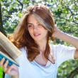 Young woman reading book — Stock Photo #3738888