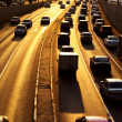 Highway with lots of cars — Stock Photo