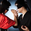 Young japanese couple fighting — Stock Photo #3738919