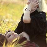 Goth women sorrow concept — Stock Photo