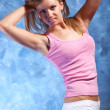Young woman fitness exercises — 图库照片 #3739045
