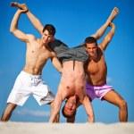 Three men summer vacation — Stock Photo #3739827