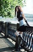 Young schoolgirl — Stock Photo