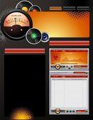 Platenlabel web ontwerpsjabloon — Stockvector