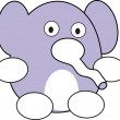 Royalty-Free Stock Vector Image: Cartoon Elephant