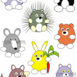 Cartoon animals set — Stock Vector #2781056