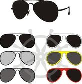 Glasses collection - a fashion, sports — Stock Vector