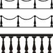 Architectural element - a balustrade, fe - Stock Vector