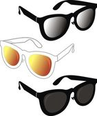 Fashionable sunglasses on 2010 yaer — Stock Vector