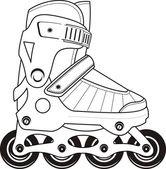 Extreme Sports Roller Skates - contour — Stock Vector