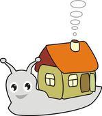 Cartoon snail with a house — Stock Vector
