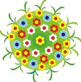 Vector illustration - flower bed. — Stock Vector