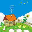 Rural small house. — Stock Vector #3363886