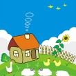 Rural small house. — Stock Vector