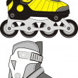Extreme Sports Roller Skates - isolated illustration. — Stock Vector #3388600