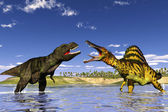 Hunt dinosaur — Stock Photo