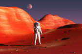 On mars — Stock Photo