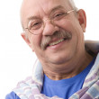 The happy elderly man - Stock Photo