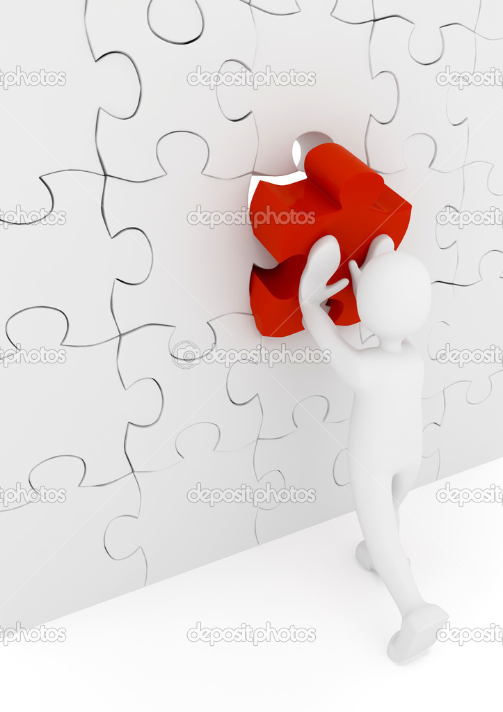 Puzzle. 3d rendered image — Stock Photo #3053881