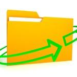 Folder over white background — Stock Photo