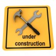 """Under construction"" sign over white — Foto de Stock   #3363470"