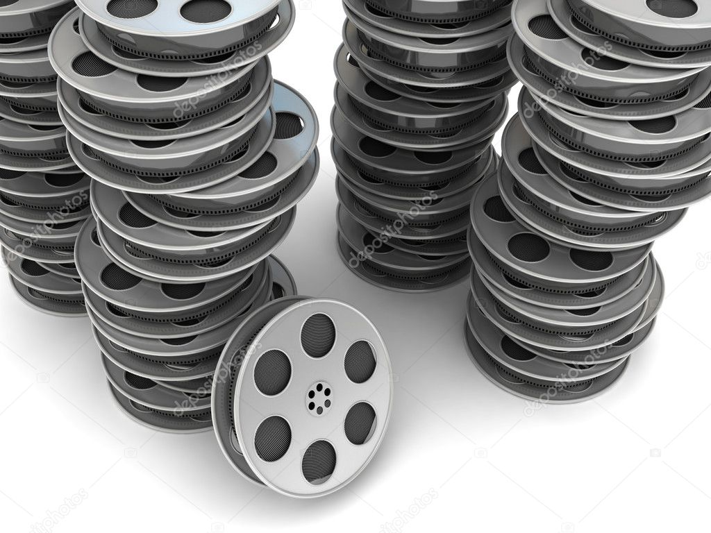 Movie Film Reel. 3d rendered image — Stock Photo #3549922