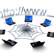 Foto Stock: Web concept over white background