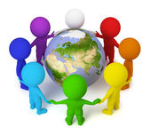 3d small - peace on the Earth — Stock Photo
