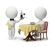 3d small - waiter and client — Stock Photo