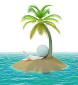 3d small - island — Stock Photo