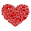 Abstract drawing of hearts — Stockvector #2785993