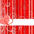 Valentines Day banner with hearts - Stock Vector