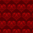 Sseamless pattern with hearts — Stock Vector