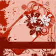 Royalty-Free Stock Imagen vectorial: Grunge framework with flowers
