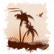 Grunge a banner with palm trees — Imagen vectorial