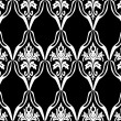 Black and white seamless pattern - Image vectorielle