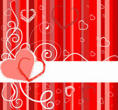 Valentines Day banner with hearts — Stock Vector