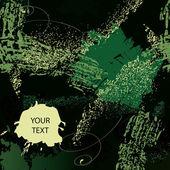 緑の色でグランジ背景 — ストックベクタ