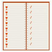 Cuaderno puro — Vector de stock
