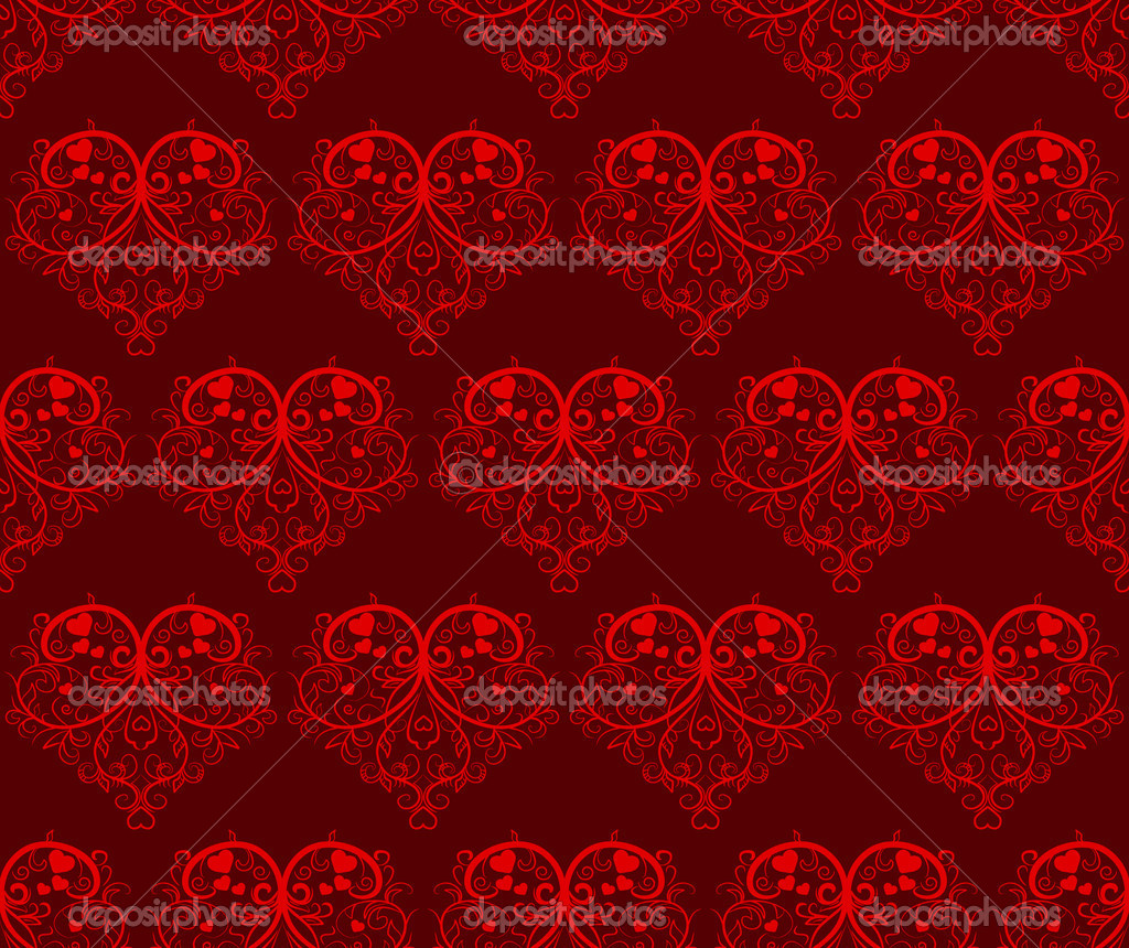 Sseamless pattern with hearts - Valentines Day. Vectior illustration — Stock Vector #2786027