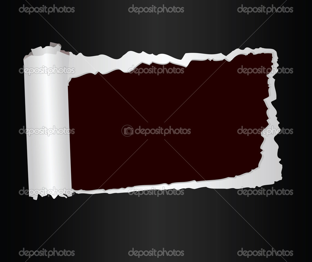 Broken off sheet of paper with a place for text. Vector illustration — Stock Vector #2786029