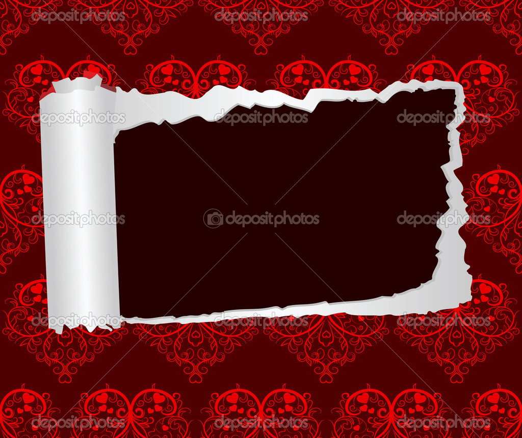Valentines Day decorative paper. Vector illustration — Stock Vector #2786064