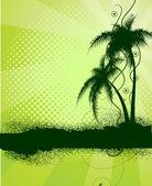 Fundo verde com palmeiras — Vetorial Stock