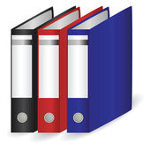 Collection of folders for papers — Stock Vector