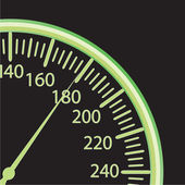 Vector illustration of a speedometer — Vector de stock